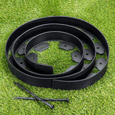 Garden Flexible Lawn Grass Plastic Edging Border 3meters+10 Extra Strong Pins Decorations