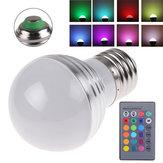 E27 3W RGB IR LED 16 تغيير الألوان ضوء مصباح المصباح AC 85-265V