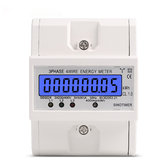 DDS024 3 Phase 4 Wire Energy Meter 380V AC 50Hz LCD Backlight Display Elektronik Watt Power Consumption Energy Meter Wattmeter