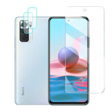 Bakeey para Xiaomi Redmi Note 10 Juego de accesorios 9H Protector de pantalla de vidrio templado antiexplosión + 2 piezas HD Protector transparente para teléfono ultrafino Lente No original