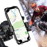 Floveme Bike Bicycle Handlebar Clamp Phone Holder 360º Rotation For 4.0-6.8 Inch Smart Phone