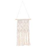 Tassel Tapestry Cotton Hand Made Wall Hangings for Home Decor-Beige