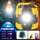 Portable LED Work Light USB Rechargeable 360°Adjustable Flashlight w/ Light Bulb