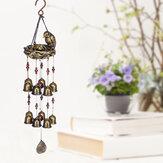 Resin Bird's Nest Wind Chimes Pendant Cross-Border Exclusively For Brass Bell Wind Chimes Outdoor Garden Bird Pendant