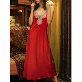 100% Polyester Spliced Lace Sleeveless Dress For Women
