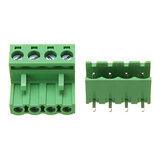 2EDG 5.08mm Pitch 4 Pin Plug in Tornillo Dupont Cable Terminal Block Conector Ángulo Recto