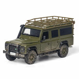 1:32 Alloy Land Rovers Defenders Rear Wheel Pull Back Diecast Car Model Toy with Sound Light for Gift Collection