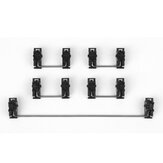 Gateron Black Steel Plate-Mount Stabilizer Set for Mechanical Keyboard 60% Shaft Large Key Lubrication Tuning Modification Accessories