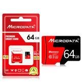 MicroData 64GB Classe 10 Alta Velocidade Máx. 80 Mb / s TF Cartão de memória com adaptador de cartão para câmera de celular tablet GPS