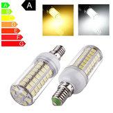 E14 5.5W LED lâmpada de 69 SMD 5050 branco puro / branco quente luz brilhante de milho lâmpada de 110V AC