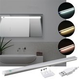 37CM 5W Dimmable USB LED Rigid Strip Hard Bar Light Tube Mirror Lamp + Touch Switch DC5V