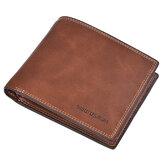 Carteira de cartão de crédito Short Short Wallet Soft Carteira Minimalista Bifold com 10 Slots para cartão
