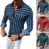 Mens Shirt Fit V Neck Muscle Cotton Long Sleeve Camping Hiking Walking Top