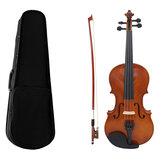 Violon acoustique en tilleul multi-tailles avec archet pour violon débutant