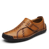 Men Comfort Hook Loop Knitted Stitches Flat Oxfords
