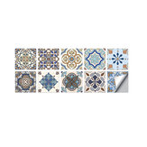 10 PCS 10x10/15x15/20x20cm Wall Tiles Stickers Kitchen Bathroom Toilet  Waterproof  PVC