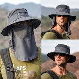 Protetor solar removível para secagem ao ar livre à prova d'água Fisherman Chapéu Balde respirável Chapéu