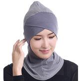 Kobiety Hidżab Kapelusz Pełna Pokrywa Wewnętrzny Islamski Turban