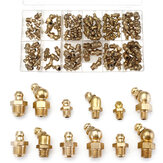 130pcs Assorted Box Grease Nipples Fitting Tools Kit Metric and Imperial BSP UNF M6 M8 M10 45/90/180 Degree