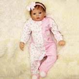 22inch Reborn Baby Girl Boneca Silicone Handmade Girl Lifelike Play House Toy