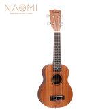 Naomi Ukulele Sapele Mahogany Ukulele 21 '' SopranoTenor Ukulele Guitarra acústica