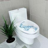 Yaratıcı3DTuvaletKoltukDuvarSticker Sanat Duvar Kağıdı Çıkarılabilir Banyo Çıkartmaları Ev Dekor