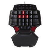 DeLUX T9 47 Nøkkel USB-kablet Mini Single-Hand Gaming Keyboard til PC-bærbar PC
