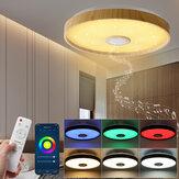 Luz de teto de 38 CM com alto-falante bluetooth Regulável moderno e inteligente para festas em casa Controle de luz cor de brilho e música com Controle Remoto por meio do aplicativo móvel