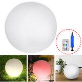 太陽光発電の膨脹可能な球LEDの夜ライトコードレスプールの浮遊庭の装飾