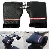 Motocicleta da bicicleta guiador regalos aperto de mão luvas de cobertura de inverno à prova d'água