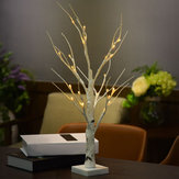 60CM Battery Power Silver Birch Lampa LED drzewo Warm White Night Light Festival Christmas Decor prezent