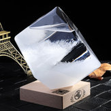 Previsioni meteorologiche Crystal Storm Glass Cube Shape Forecaster Bottle Barometer Decor Gift
