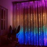 10 / 20м LED занавес света многоцветный оконный занавес для спальни дома