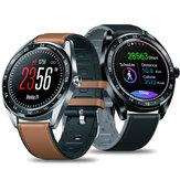 [女性の生理チェック] Zeblaze NEO 1.3インチフルラウンドタッチスクリーン血圧心拍数モニターカウントダウンシリコーン+革バンドスマートな時計