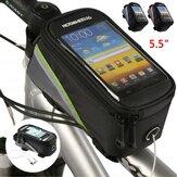 ROSWHEEL 5.5 inç Bisiklet Telefonu Çanta Yağmur Geçirmez Dokunmatik Ekran Bisiklet Ön Çerçeve Çanta Bisiklet Bisiklet Telefon Kılıfı Çanta