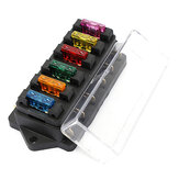 6Way Blade Fuse Scatola Block Holder ATO ATC Circuit Standard per 12V 24V Car Marine