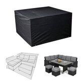alairelibreCubiertaparamuebles de sofá Rattan Cube Cubierta para jardín Impermeable Protector a prueba de polvo