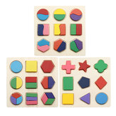 Früherziehung Kinder Puzzle Toy Wooden Geometric Board kognitiven Matching Board