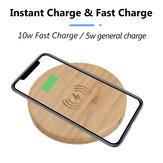 Bakeey 5W / 10W QI Pad de carga inalámbrica estándar Cargador de carga rápida para iPhone XS 11Pro S20 20+ MI10