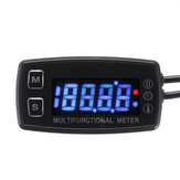12V Digital LCD Engine Multifunction Tach Hour Meter Tachometer Thermometer Temperature Gauge Waterproof