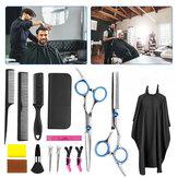 15PCS Barber Cabello Tijeras de corte Juego de tijeras profesionales Thin Salon Cabellodress
