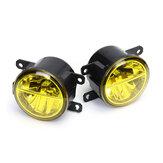 Lente de farol de nevoeiro dianteiro direita / esquerda LED com lâmpadas âmbar universais H8/H11 para Honda Civic Fit Odyssey