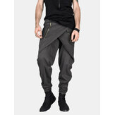 Pantalon décontracté pour homme Baggy Street Pantalon Hippy Harem Drop Crotch Zipper Long Pants