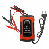 FOXSUR 12V 5A Pulse Repair LCD Battery Charger Red For Car Motorcycle Agm Gel Wet Lead Acid Battery