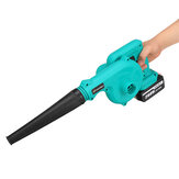 2 in 1 Cordless Rechargeable Air Blower Garden Leaf Blower Portable Electric Vacuum Snow Dust Cleaner W/ 1/2pcs Battery