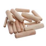 3/8 o 1/2 o 1/4 Inch Pasadores de madera estriados rectos para carpintería Agujero de madera Conector