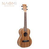 NAOMI 21/23/26 Inch 15 Fret 4 Strings Zebrawood Acoustic Guitar Ukelele Musical Stringed Instrument
