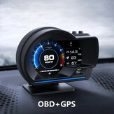 Smart Car OBD2 GPS Indicatore HUD Head-Up Digital Display Tachimetro Turbo RPM Allarme