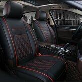 1psc بو الجلود سيارة كاملة تحيط غطاء مقعد وسادة حامي مجموعة عالمية لمدة 5 مقاعد السيارات