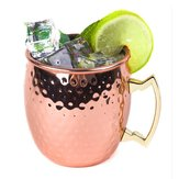 Stainless Steel Copper Plated Moscow Mule Mug 18oz Cocktails Iced Tea rinking Cup